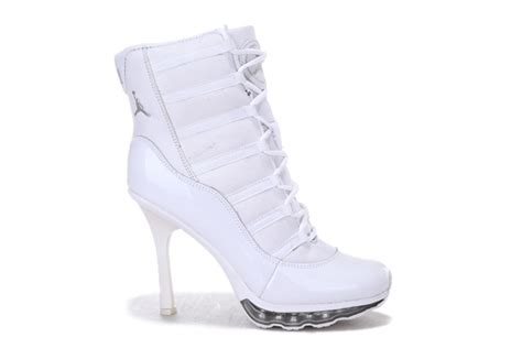 nike high heeled sneakers nike air 11 high heel sneakers white 4792699