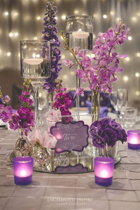purple and white centerpieces for weddings best 25 purple wedding centerpieces ideas on