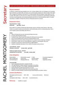 secretary resume template hashdoc