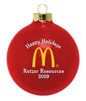 glass custom ornaments corporate logos