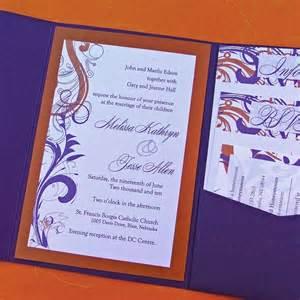 clemson wedding wednes er thursday orange purple invitations wedding ideas