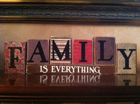 home decor sign family is everything wood blocks wood sign home decor home