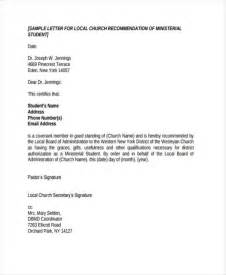 Recommendation Letter Sle Church Member 79 Exles Of Recommendation Letters