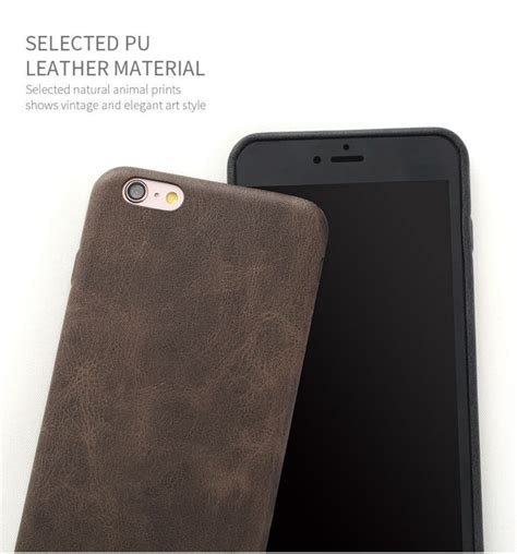 Pu Cover Softcase Leather Iphone 6 bakeey retro soft pu leather ultra thin shockproof back cover for iphone 6 6s 4 7 inch