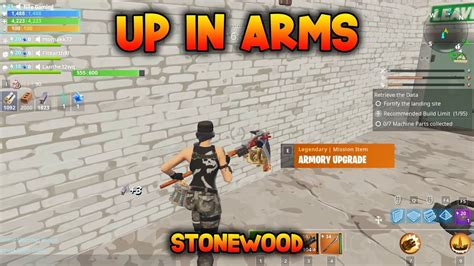 arms collect machine parts fortnite save