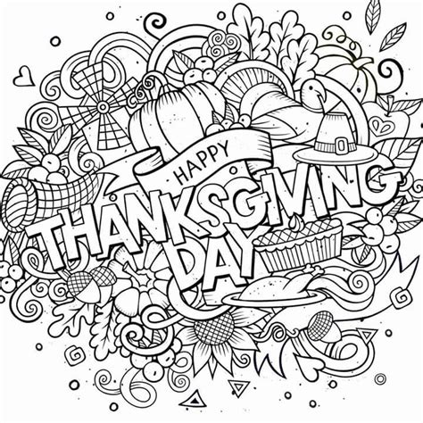 thanksgiving coloring page for adults happy thanksgiving day adult coloring pages pinterest