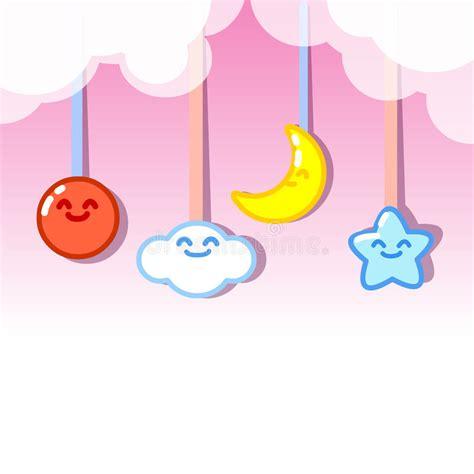 sol y la luna nubes estrellas vector de stock 169 son colgante de la luna y de las estrellas del sol de las