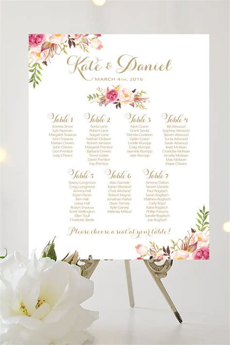 un seating chart 25 best ideas about table seating chart on