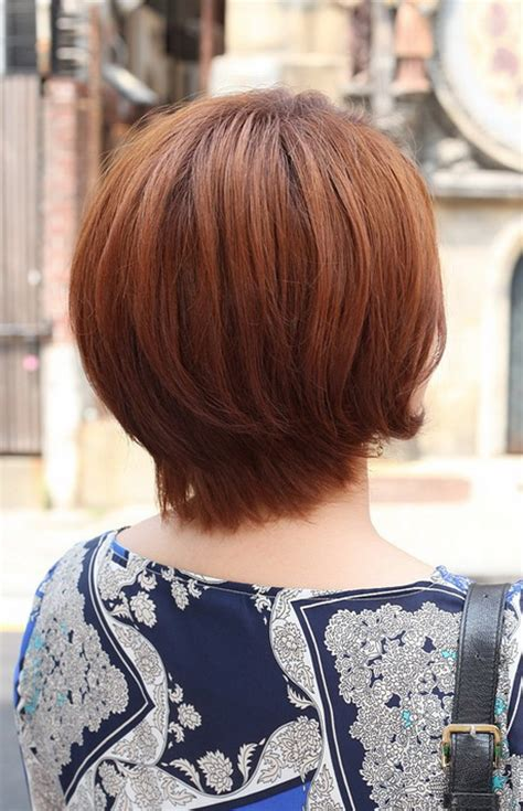 back side bob cut short hairstyles back view