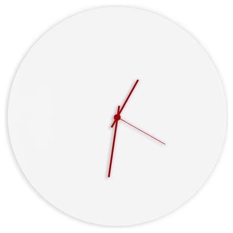 minimalistic wall clock whiteout circle clock minimalist modern white metal