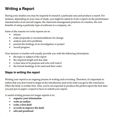 sle of a report writing writing a report sle 28 images how to write a report