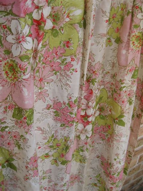 shabby chic floral curtains beautiful vintage 1950 s floral shabby chic curtain
