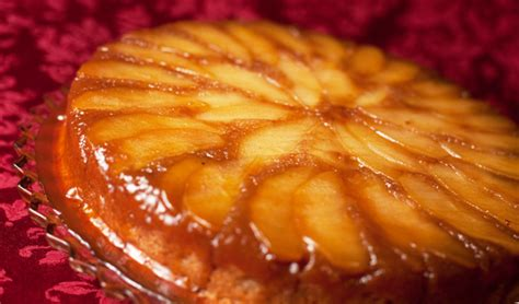 Apple Upside Down Cake | brandied apple upside down cake recipe