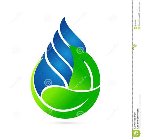 clipart acqua concetto di ecologia della goccia di acqua illustrazione