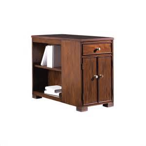 bookcase side table stanley furniture hudson street warm cocoa boulevard