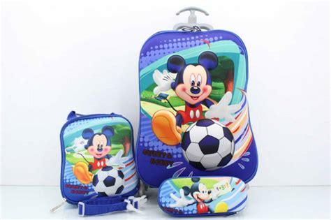 Backpack Set 3 In 1 C015 Ransel Karakter Mickey Tas Karakter jual tas troli trolley troly anak tk sd micky 3d 3