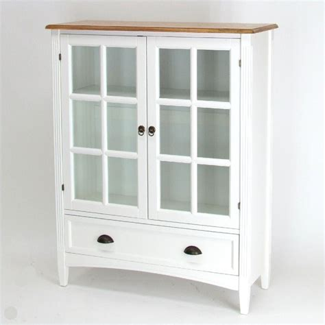 shelf barrister bookcase  glass door  white