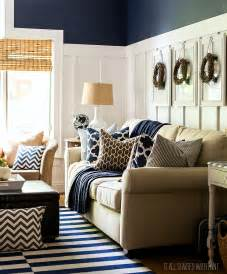 navy decor fall decor in navy and blue