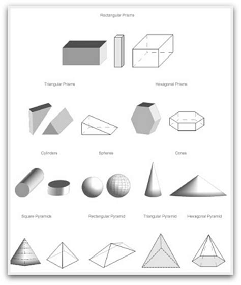 geometric shapes to print, cut, color and fold
