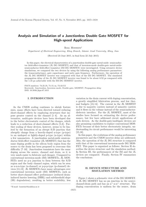 design and application guide for high speed mosfet analysis and simulation of a junctionless pdf download