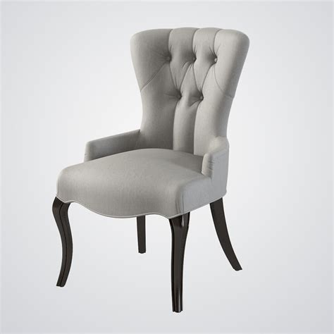 Baker Tufted Dining Chairs Baker Tufted Accent Chair 3d Model
