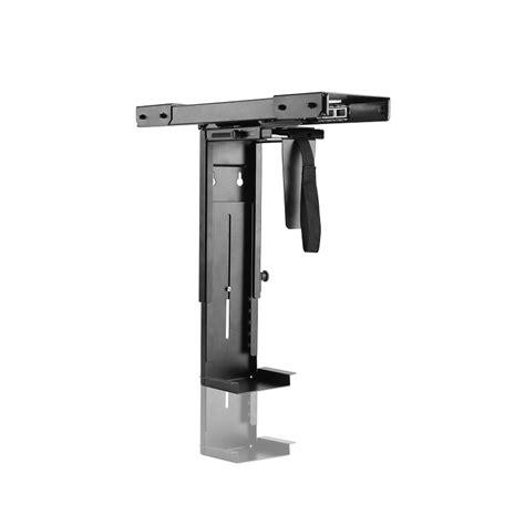 cpu under desk mount adjustable under desk mount cpu holder