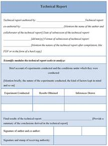Report Template technical report template of technical report sample