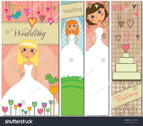 Wedding Banner Pics by Wedding Banners Different Colors Stock Illustration
