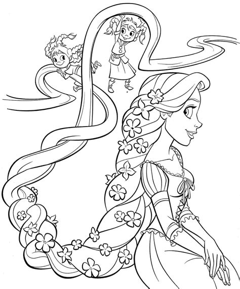 disney coloring pages info everything tangled rapunzel eugene themed party ideas