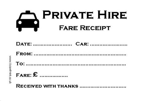 printable taxi receipt uk 40 x 100 sheet private hire minicab fare receipt pads ebay