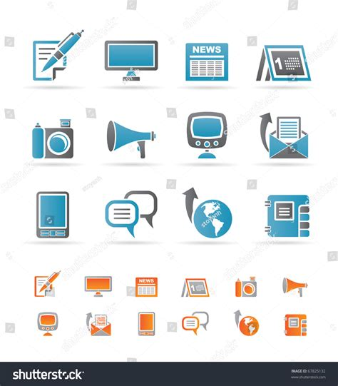 communication channels social media icons vector stock