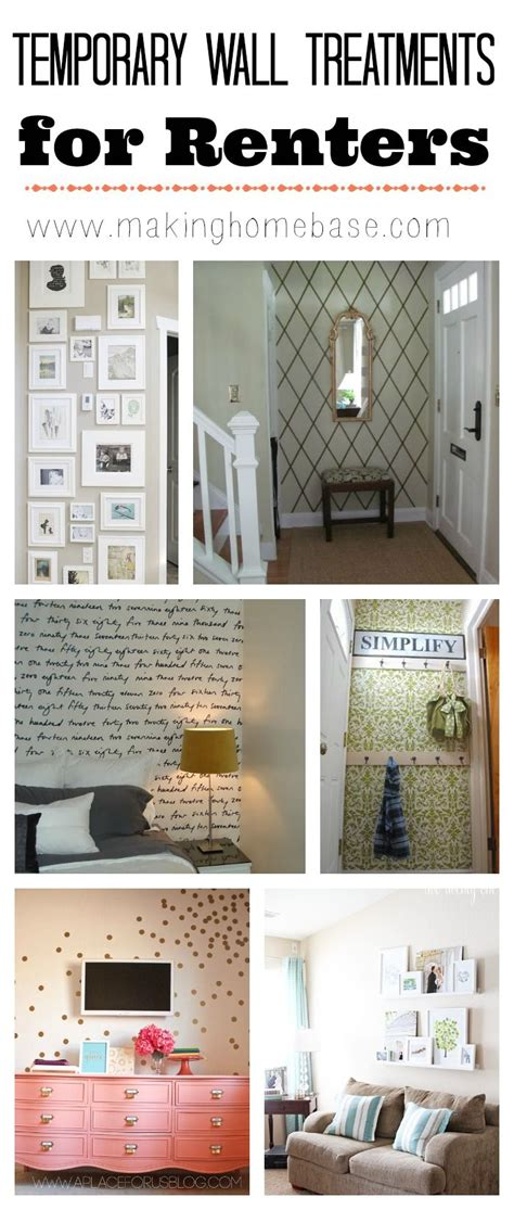 temporary wallpaper for renters temporary wall treatments for renters i m loving the idea