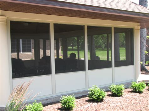 Screen Porch Panels aluminum screened porch panels at deck builder outlet
