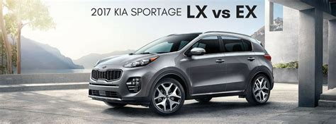 2017 kia sportage lx vs ex trim level comparison