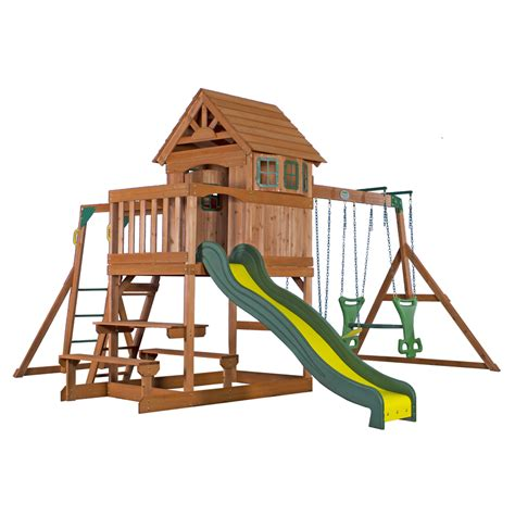 lowes wooden swing sets shop backyard discovery springboro residential wood