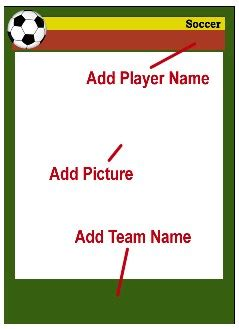 soccer card template soccer card templates free blank printable customize