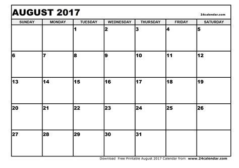 printable calendar blank 2017 blank august 2017 calendar in printable format