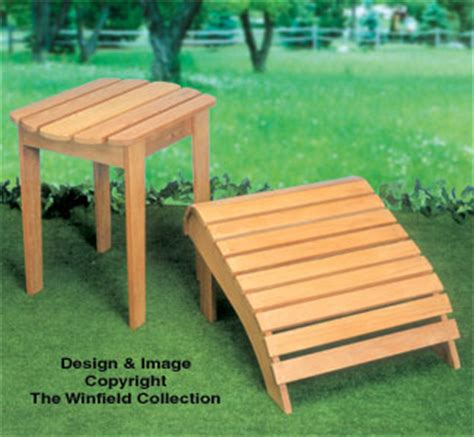 Adirondack Chair Ottoman Plans All Yard Garden Projects Adirondack Table Ottoman Wood Plan