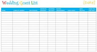 wedding guest list template free document templates free printable wedding guest list template