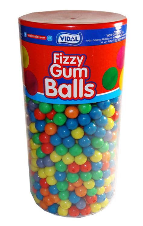 How Big Is The And Other Gum Questions by Vidal Fizzy Gum Balls Approx 800pc And Other