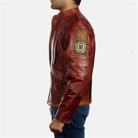 Jaket Marron mens mars maroon leather jacket