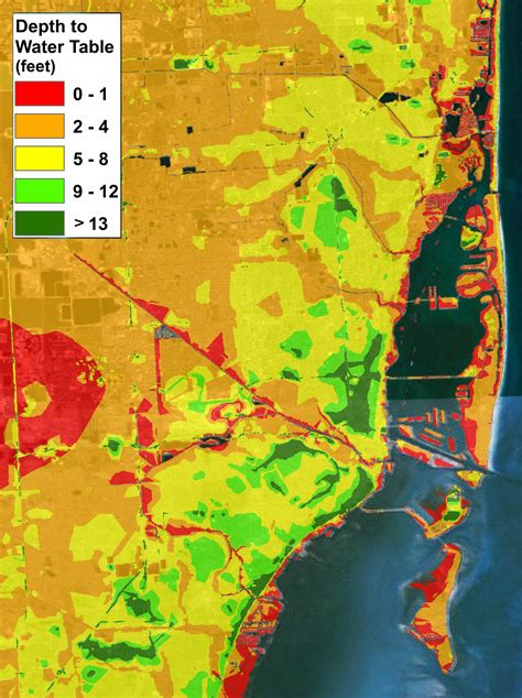 florida water table depth rising sea levels are already miami s floods worse