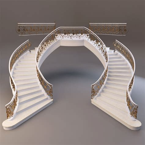 model classical staircase  cgtrader