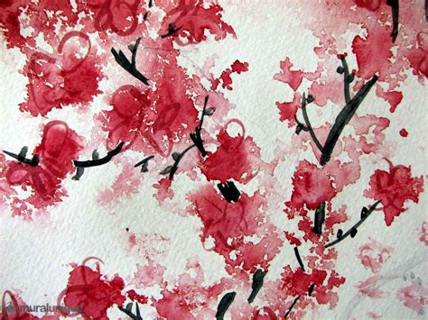 wallpaper easy cherry blossom aquarelle buy prepasted wallpaper murals