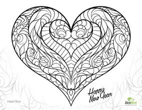 coloring pages for adults hearts coloring pages slice free coloring pages