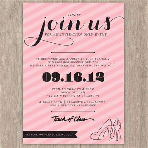 invite for pink striped event invitation saffron avenue saffron