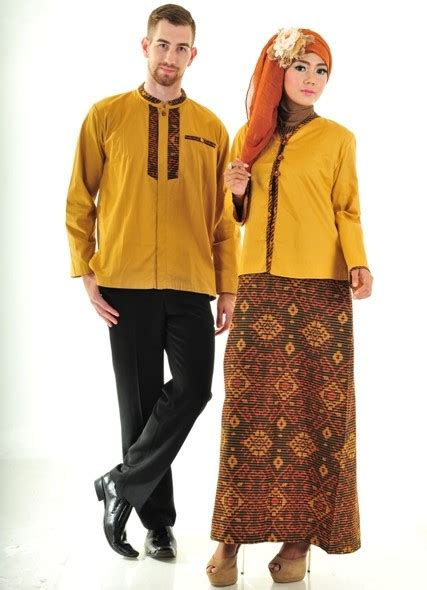 Pasangan Gamis Batik 9 model baju batik gamis trendy dan modis