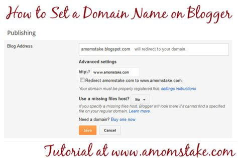 create  domain  blogger easy tutorial