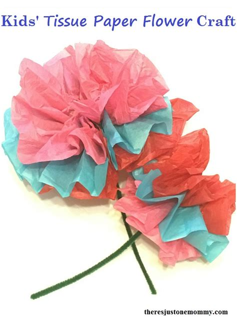 Flower Tissue Paper Craft - tissue paper flower craft there s just one