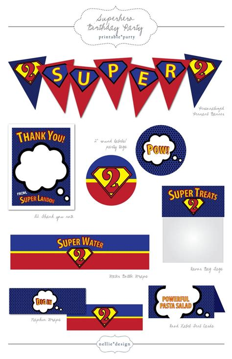 printable heroes guide superhero birthday party printables driverlayer search